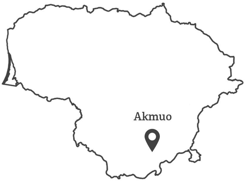 100 lietuvu - Akmuo žemėlapis