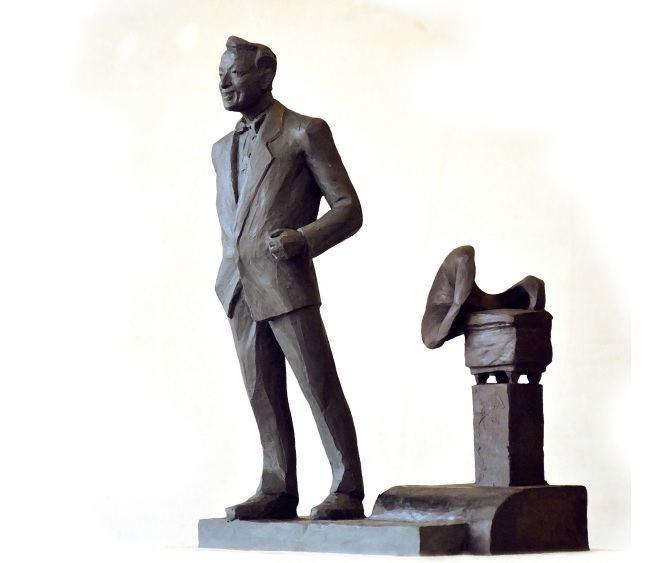 Palangos sav. nuotr./Vienas iš siūlomų variantų – S.Povilaičio paminklas su gramofonu.