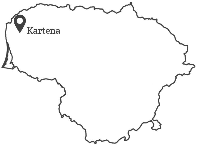 100 lietuvu - Ventė žemėlapis