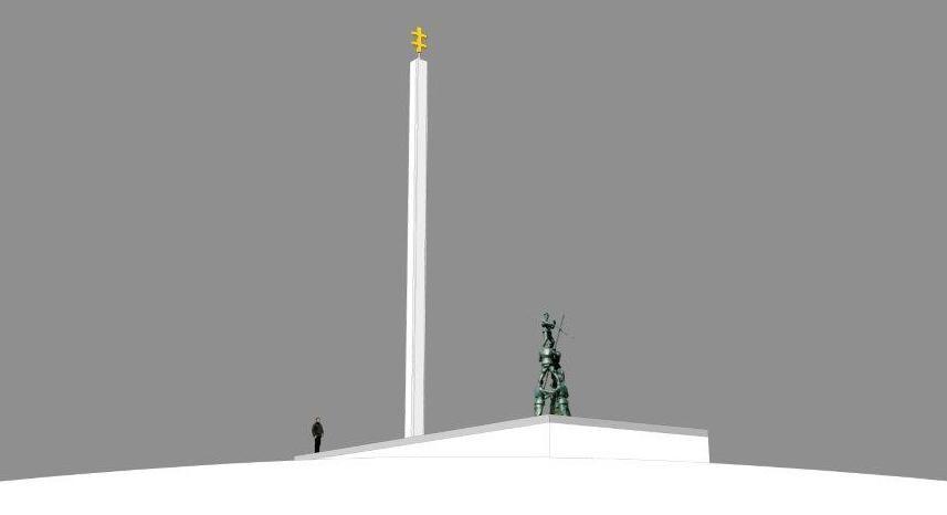 """Ievos Budzeikaitės nuotr./Paminklo """"Partizanai žvalgyboje"""" vizualizacija"""