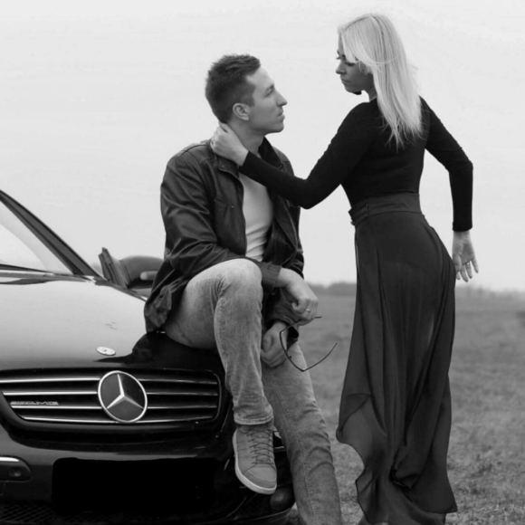 Asmeninio albumo nuotr./Karolis Akulavičius su žmona