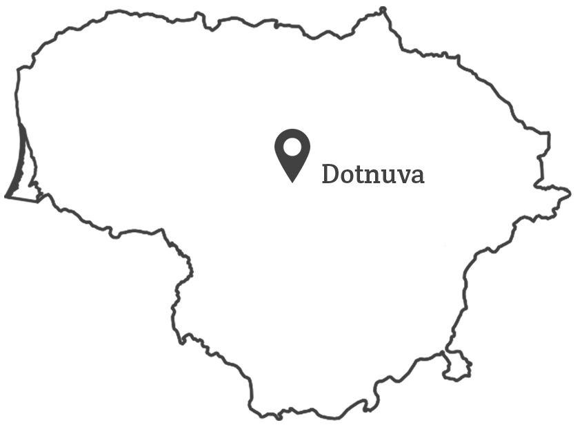 100 lietuvu - Dotnuva žemėlapis