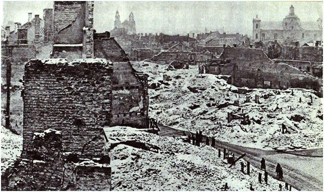 Archyvinės nuotr./Mažasis getas ir buvęs žydų kvartalas po Antrojo pasaulinio karo