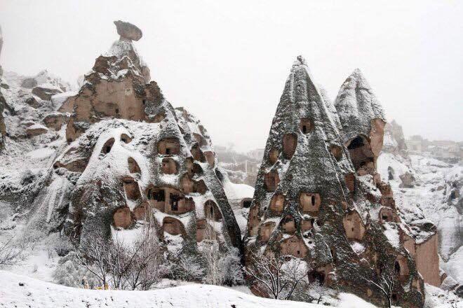 Asmeninė nuotr./Sniego pietvakarių Turkijos dalyje netrūksta