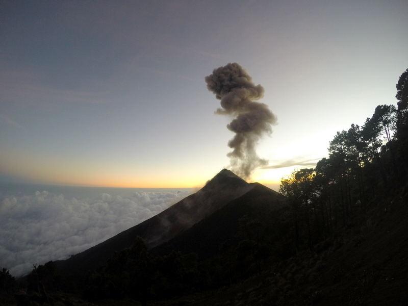 Asmeninė nuotr./Vienas aukščiausių Gvatemalos ugnikalnių Acatenangas